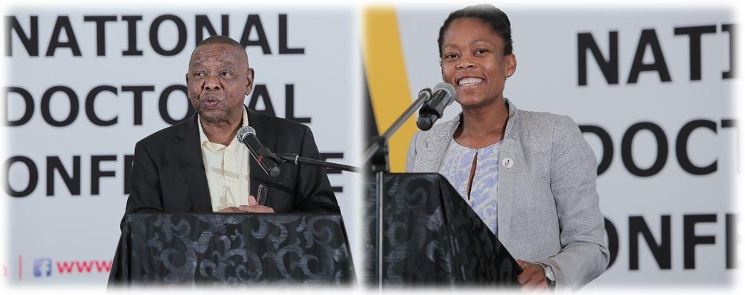 Blade Nzimande and Sarah Mosoetsa